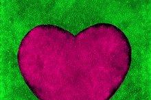 Heart Shape Grunge Style Background