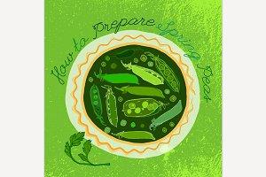 Hand Drawn Peas