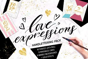 Love Expressions Handlettering Pack