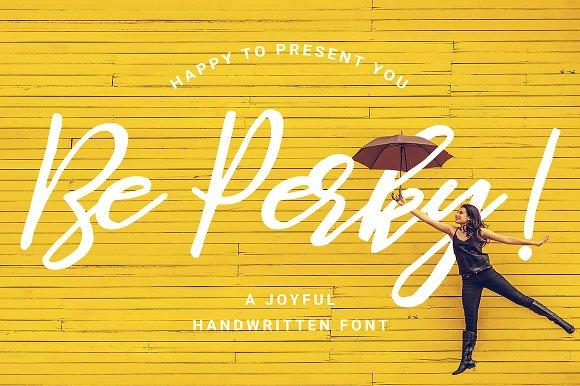 Be Perky Handwritten Font