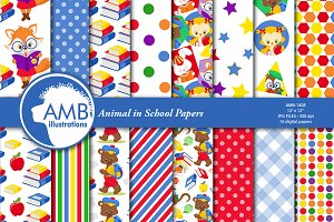 Animal in school papers AMB-1408