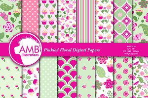 Pinkie's Floral Papers AMB-1410