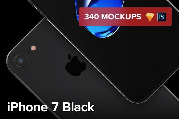 340 IPhone 7 Black Mockups
