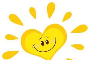 Smiling Sun Heart