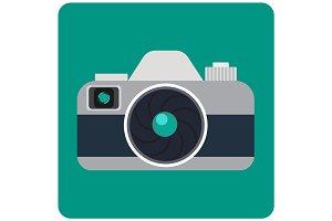 flat photo camera