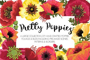 Pretty Poppies Flower Designs