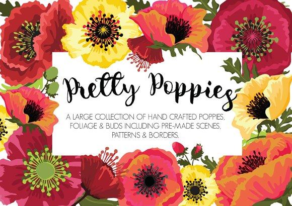 Pretty poppies flower designs illustrations creative market pretty poppies flower designs illustrations mightylinksfo