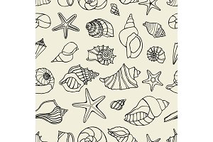 pattern with seashells