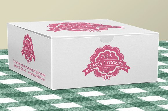 Cake Design Programs Download Free : Cake Box for Bakery Pastries ~ Product Mockups ~ Creative ...
