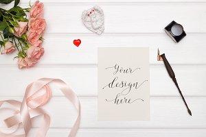 Mockup. Valentine's Day & Love. #9