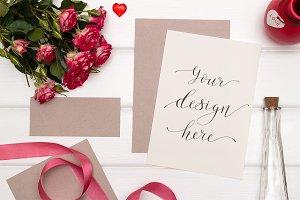 Mockup. Valentine's Day & Love. #13