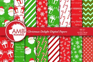 Christmas Digital Paper AMB-1413
