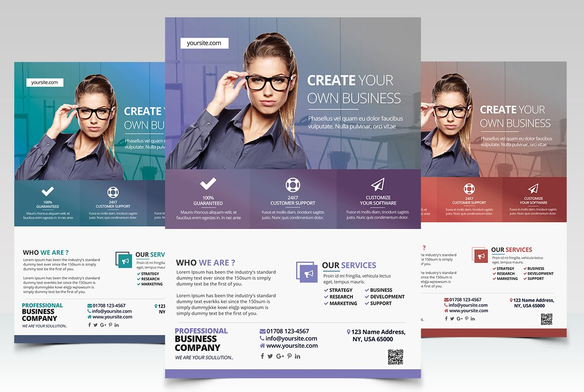 Create business psd flyer template flyer templates creative market flashek Images