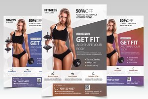 Get Fit - Fitness PSD Flyer