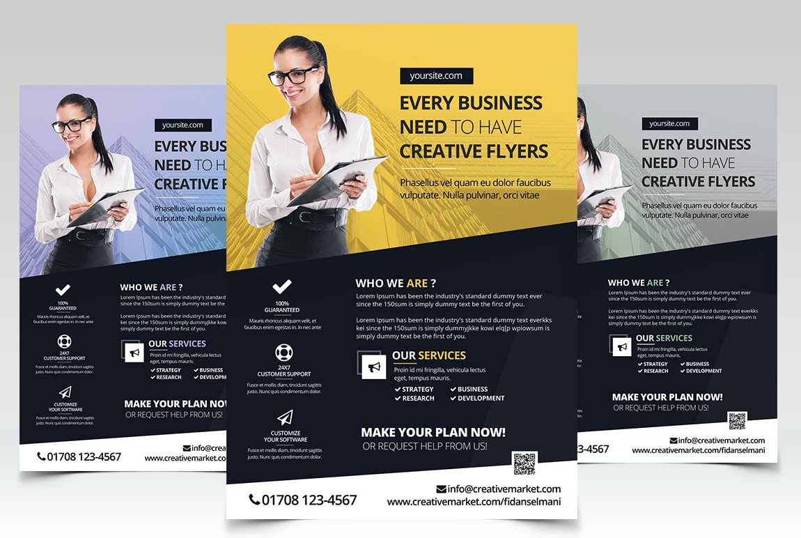 every business psd flyer flyer templates on creative market