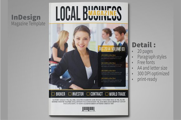 Business magazine template magazine templates creative market business magazine template magazines accmission Image collections