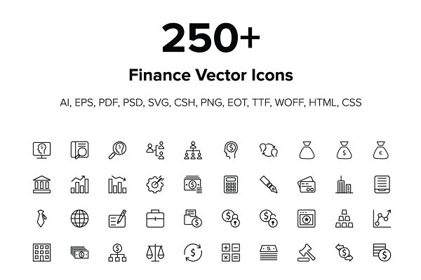 250+ Finance Icons