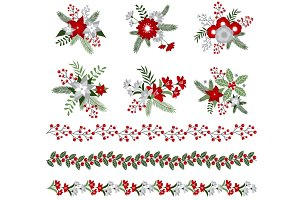 Christmas Bouquets & Borders