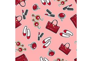 Wallpaper Earing, Ring, Sack, Shoes, Lipstick