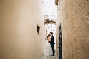 Beautiful wedding couple in Italy