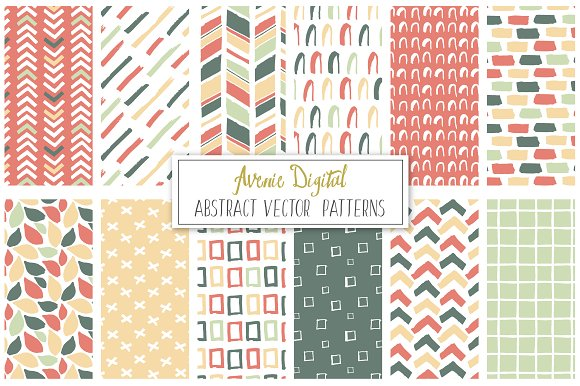Hand Drawn Abstract Vector Patterns