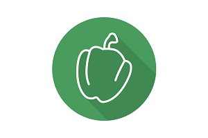 Bell pepper icon. Vector