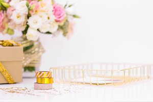 Styled Luxury Washi Tape Stock Photo