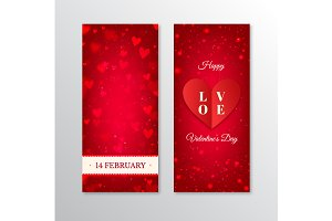 Valentine's Day vertical banners