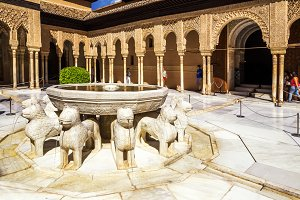 Lion fountain, Alhambra Palace.