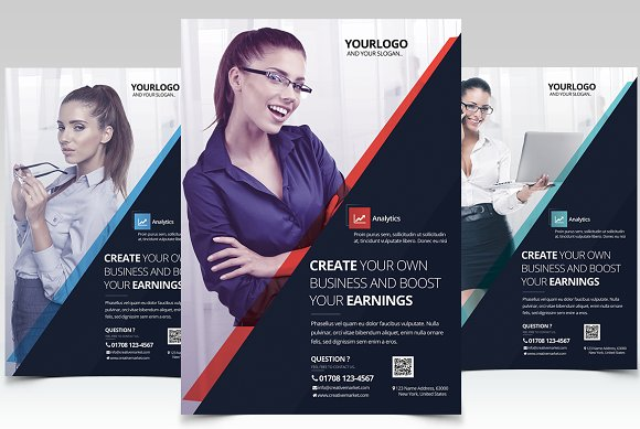 corporate business psd flyer flyer templates creative market
