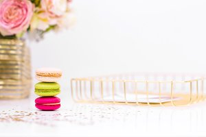Styled Macaroon Stock Photo