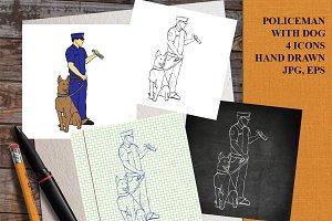 Policeman with dog