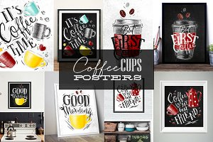 Coffee Cups Posters
