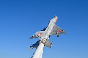 Monument to the fighter aircraft.