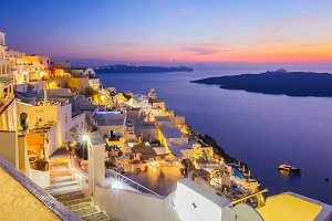 sunset Santorini