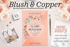 Blush Copper Wedding Invite I