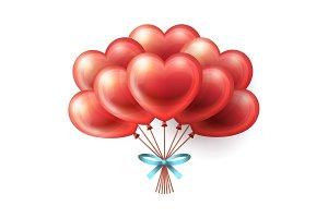 Heart Balloons Bunch