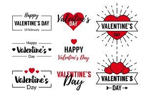 Valentines Day Typographic Text Design