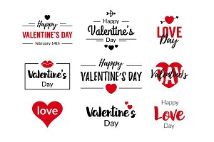 Valentines Day Typographic Text Design
