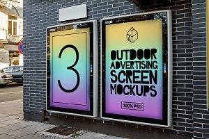 Outdoor Ad Screen Mock-Ups 3