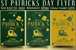 St Patrick Day Flyer Template