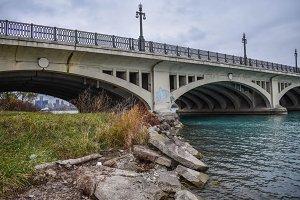 Detroit Skyline & Belle Isle Bridge