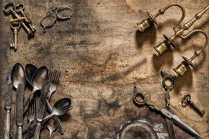 Vintage cutlery Nostalgic still life