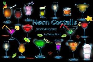 Neon Vector Coctails