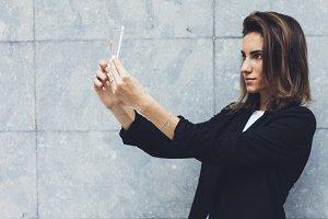 Portrait young businesswomen