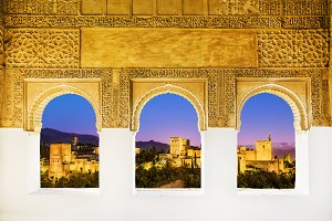 The Alhambra from the windows
