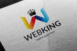 Web King (Letter W) Logo