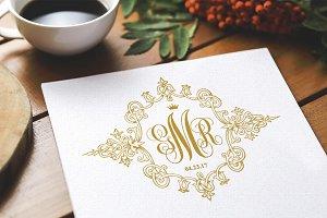 Royal Wedding Vintage Monogram