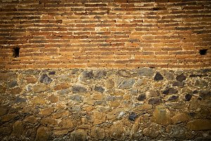Grunge stile of brick wall vintage