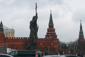 Monument to Prince Vladimir in Moscow Kremlin